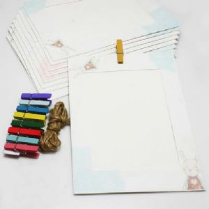 Picture frames Set of materials, Paper, white, 18.5cm x 13cm, 9 sheets, [ZPQ0008]
